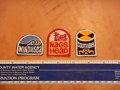 LOT OF 3 VINTAGE ORIGINAL 1970s SURF PATCHES  SURFING
