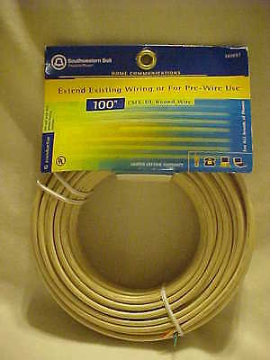 24 Gauge 6 Wire Telephone Cable Southwestern Bell 100ft NEW S60697