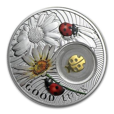 Niue 2014 $1 Symbols of Luck - Ladybird 14.14g Silver Proof Coin