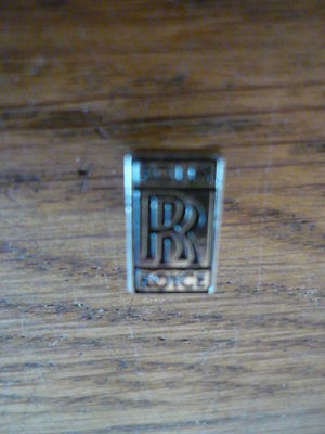 Rolls Royce, Pin Badge, Small & Discreat, Black Lettering