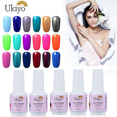 Ukiyo Soak Off Nail Gel Polish UV Varnish Top Base Coat Manicure Foundation 15ml