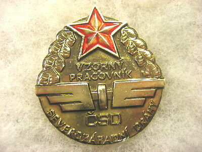 Czechoslovakia RailRoad badge Excell.Serviceman Badge