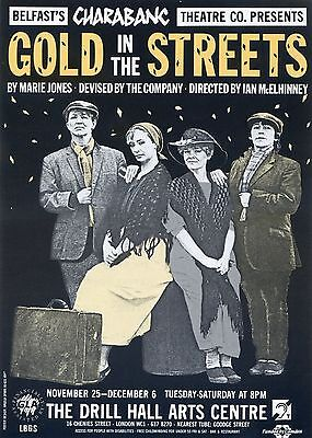 GOLD IN THE STREETS Theatre Flyer Handbill