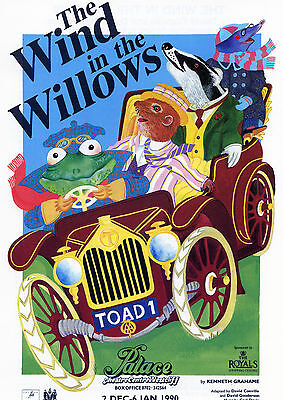 THE WIND IN THE WILLOWS Theatre Flyer Handbill