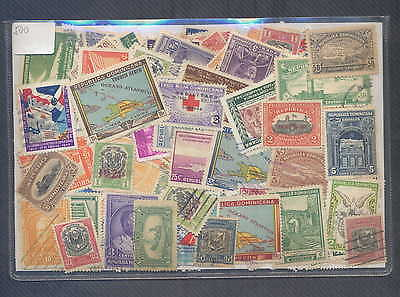 Dominican Republic 500 Different Used Excellent Condition, Ancient and Modern