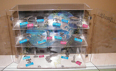 Rawcliffe Pewter DISPLAY CASE w/17 Star Trek Ships & Figures and REGULA I