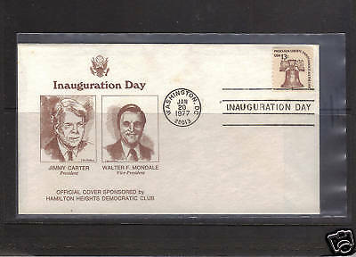 Carter/Mondale Inauguration Cover - Unaddressed