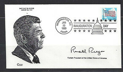 Ronald Reagan Last Day in Office with Canton Covers cachet