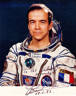 French Astronaut PATRICK BAUDRY Signed Photograph France
