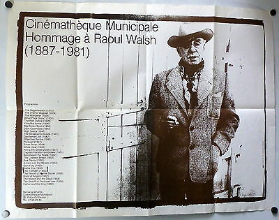 ~ Director Raoul Walsh ORIGINAL French Festival Poster Cinemateque Municipale