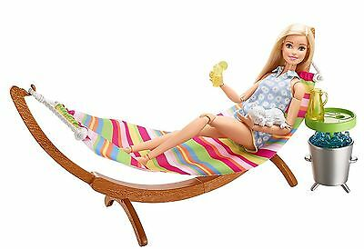 Barbie Hammock Fun Playset With Pet Kitty Cat for Barbie dolls New