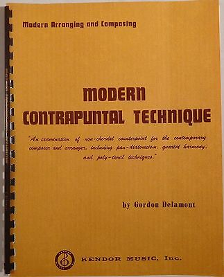 GORDON DELAMONT Modern Contrapuntal Technique KENDOR vintage music book