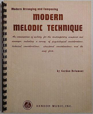 GORDON DELAMONT Modern Melodic Technique KENDOR vintage music book