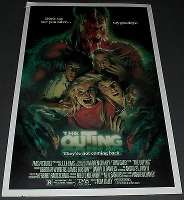 THE OUTING 1987 ORIGINAL A-STYLE 27x41 MOVIE POSTER! DREW STRUZAN MONSTER ART!