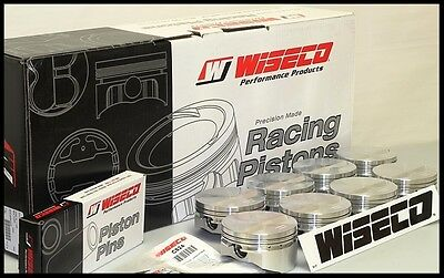 Sbc Chevy 400 Wiseco Forged Pistons & Rings 4.125 Flat Top Uses 6.0 Rods Kp500As