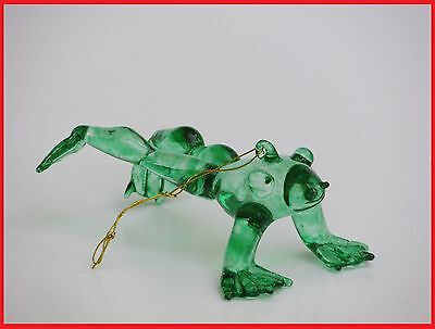 Fancy Glass Frog Christmas Ornament