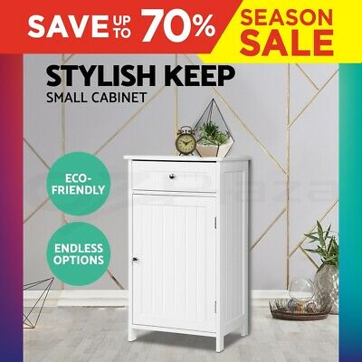 Storage Side Cabinet Bathroom Tallboy Furniture Chest of Drawer Laundry Cupboard