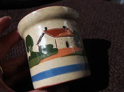 Old Watcombe Devon Torquay Ware Small Torcross Cottage Motto Conserve Pot No Lid