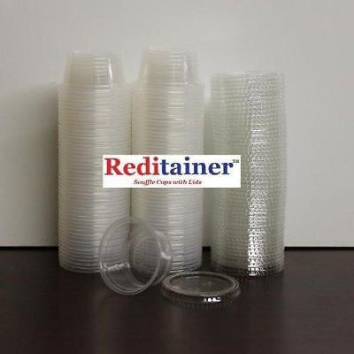 Reditainer Plastic Disposable Portion Cups Souffle Cup with Lids 100-Pack New