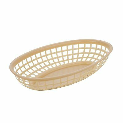Alegacy 36-Pack Round Bottom Oval Fast Food Baskets, Tan
