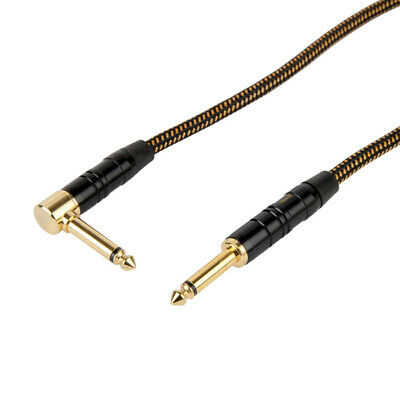 "Titan AV Vintage Tweed 3m / 10ft Braided Guitar Lead 1/4"" Jacks"