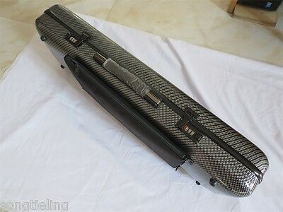 New model Carbon fiber violin case 4/4 with music book bag/(coded lock)
