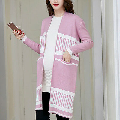 Fashion Pregnant Women Sweater Comfy Loose Maternity Knit Cardigan Lady Outwear