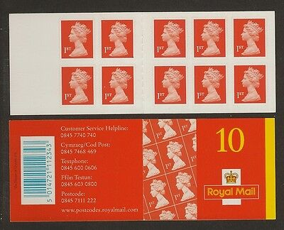GB Stamps: Self Adhesive Machin Barcode Booklet MD1