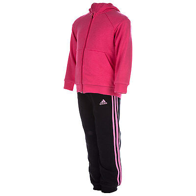 Girls adidas Infant Girls Sports Hooded Tracksuit in Pink - 3-4