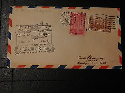 Canada Stamp SG 363,365 on First Official Flight Canada Air Mail JUN-24-1939.