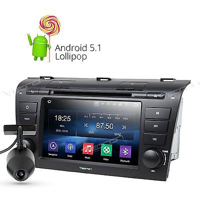 """7""""HD Android 5.1 Car DVD Player Stereo GPS Radio BT for Mazda 3 04-09 A Dashcam"""