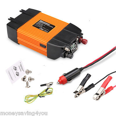 New 300W Peak Car Vehicle Power Inverter DC 12V to 230V with USB Port AC Outlet