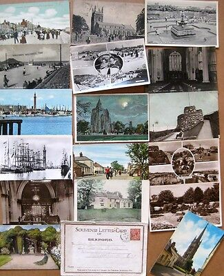 LINCOLNSHIRE Job Lot of 18x Old Postcards 1900-70s, Smaller Towns & Villages