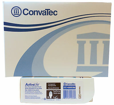 "Convatec 400598 Activelife 1-Piece CTF 3/4"" - 2 1/2"" Stoma Transparent 10/BX"