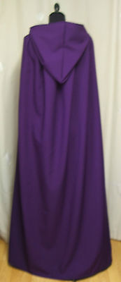 Purple Adults Hooded Cape/cloak   Halloween - Royalty-Vampire