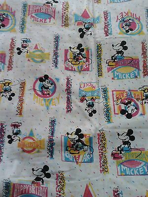 """New """"Disney"""" Mickey mouse fabric remnant 72"""" x 60"""" approx. Cotton jersey"""