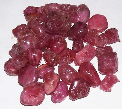 318 cts Natural Treated Pinkish Red Ruby Gemstone Rough Specimen Lot #rrbr8