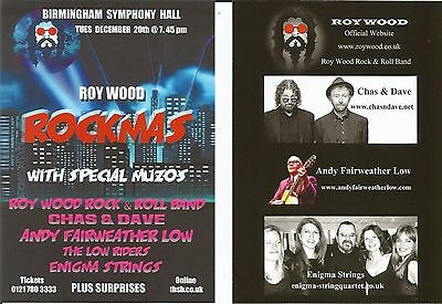 Roy Wood (of Wizzard ELO Move)  Chas Dave  Fairweather Christmas 2016 Flyer x 4
