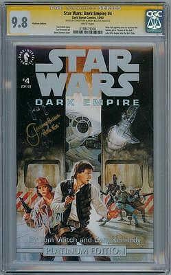 Star Wars Dark Empire #4 9.8 Cgc Signature Series Signed Carrie Fisher & Bulloch