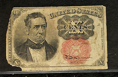 10 Cents Fifth Issue Fractional Note - Heavily Circulated