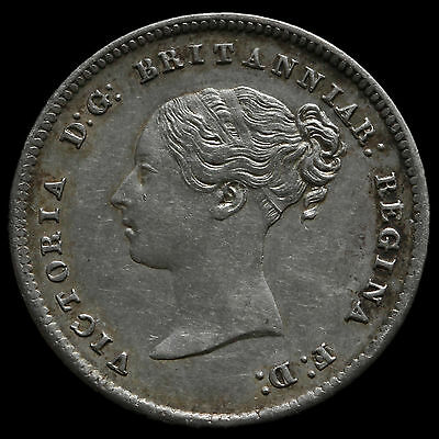 1860 Queen Victoria Silver Maundy Fourpence