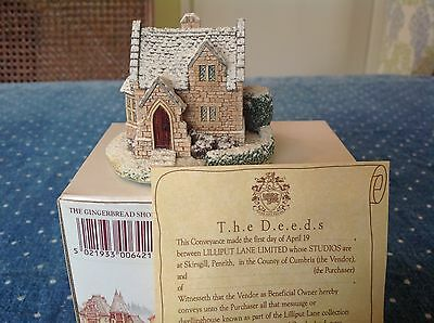 1993 The Gingerbread Shop  Cottage  Lilliput Lane  with deeds