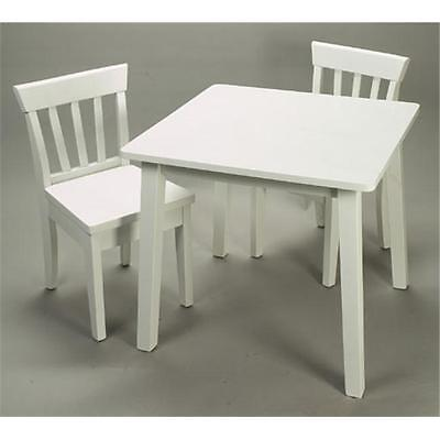 Giftmark 4525W Childrens Square Table & 2 Chair Set White