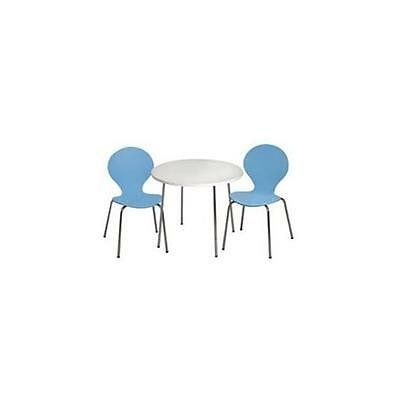 Giftmark 3012B Modern Childrens Table and 2 Chair Set with Chrome Legs Blue