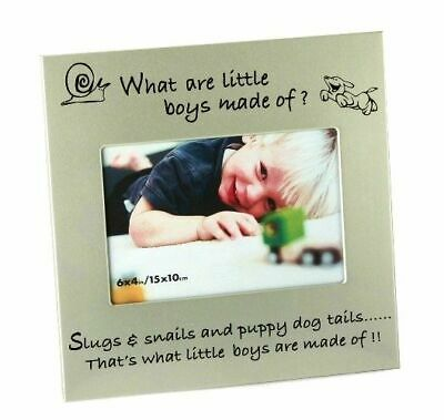 What Little Boys Are Made Of... New Baby Photo Frame.