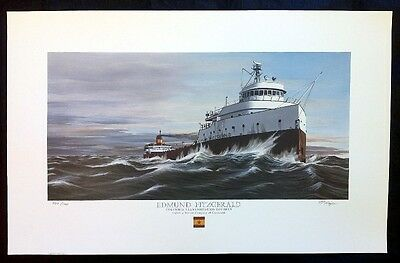 Edmund Fitzgerald print by TPNagle  signed and numbered