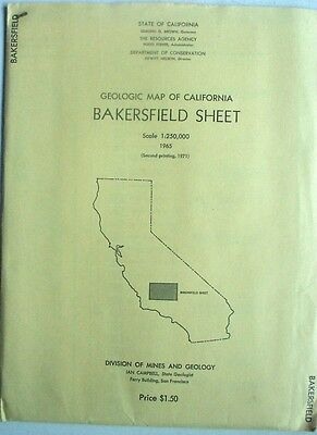 Colored Geologic Map of Bakersfield Sheet, California, 1971