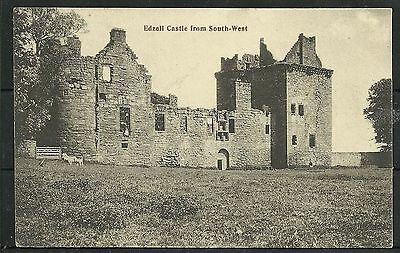 Postcard : Edzell Castle Forfarshire from SW