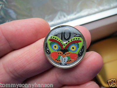 Hand Enamelled & Finished with A Crystal Clear Resin 1988 New Zealand 10 Pence