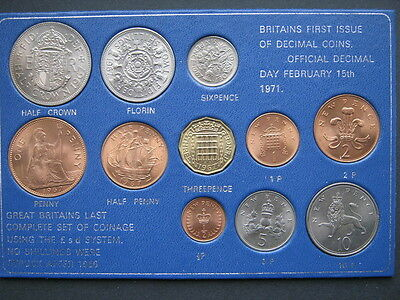 First and Last coin set in Sandhill type case 1967-71